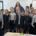 Author Michelle Deyarmin (SMS Alumna - 2010) visits with Grade 3
