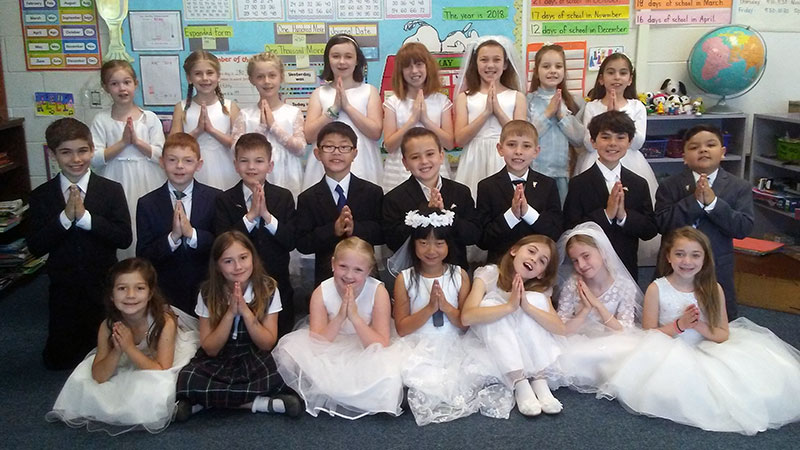 2018 First Communion 2nd Grade